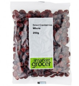The Market Grocer 天然蔓越莓干 250g (整粒烘焙 酸甜可口 开袋即食)